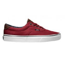 Vans Era 59 Cord & Plaid Red