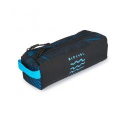 Rip Curl Pencil Case 2 compartments Glow Wave Blue