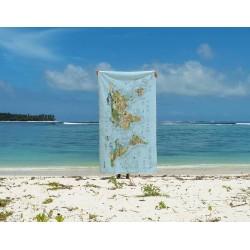 Surftrip Map Towel